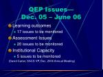 qep issues dec 05 june 06