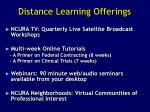 distance learning offerings