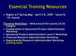 essential training resources