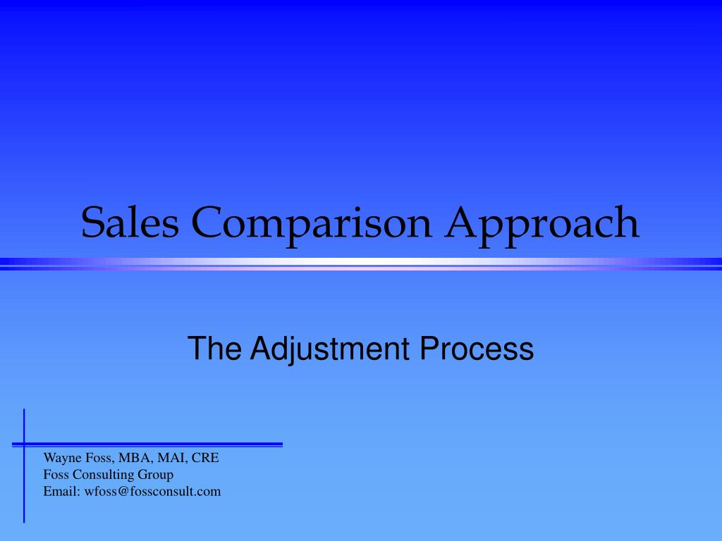 sales comparison approach l.