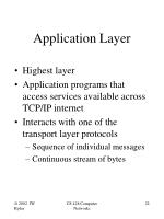 application layer22