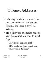ethernet addresses