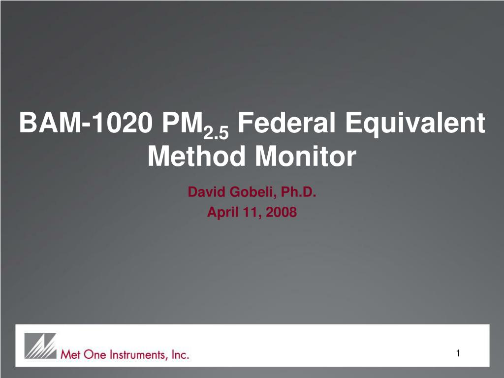 bam 1020 pm 2 5 federal equivalent method monitor l.