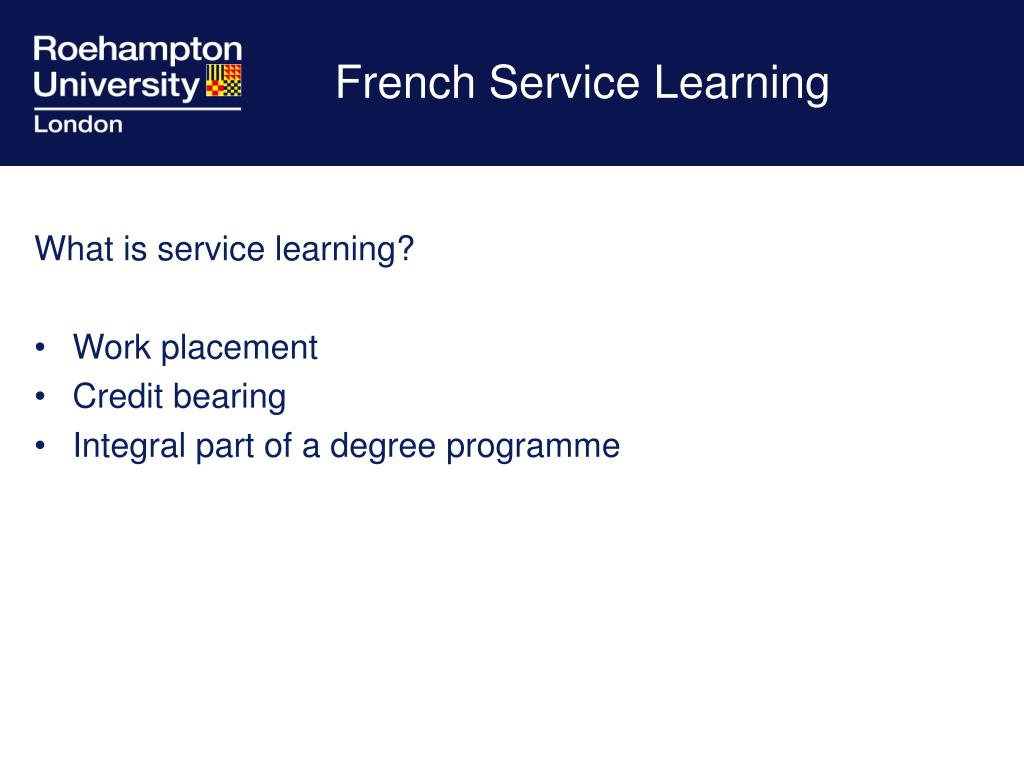 french service learning l.