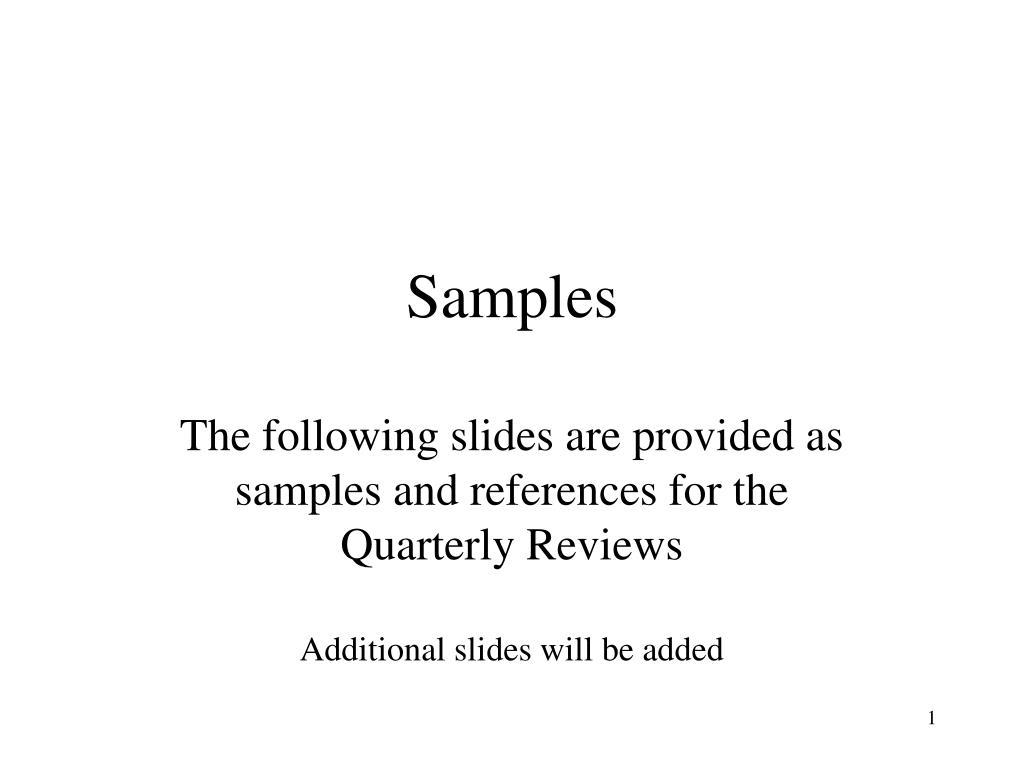 samples l.