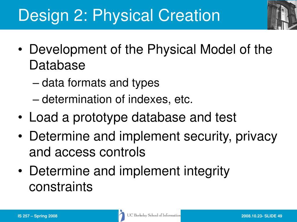 Design 2: Physical Creation