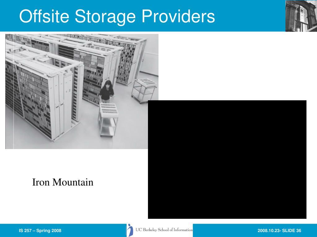 Offsite Storage Providers