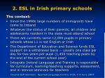 2 esl in irish primary schools