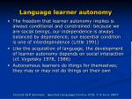language learner autonomy7