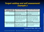 target setting and self assessment example 1