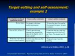 target setting and self assessment example 2