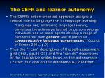 the cefr and learner autonomy