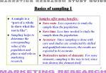 basics of sampling i