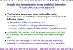 sample size determination using statistical formulae the confidence interval approach
