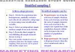 stratified sampling i