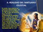 ii realidad del santuario celestial