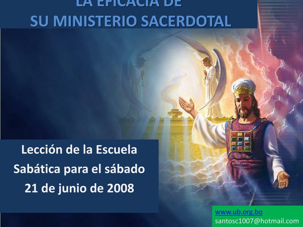 la eficacia de su ministerio sacerdotal l.
