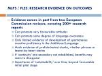 mlps fles research evidence on outcomes