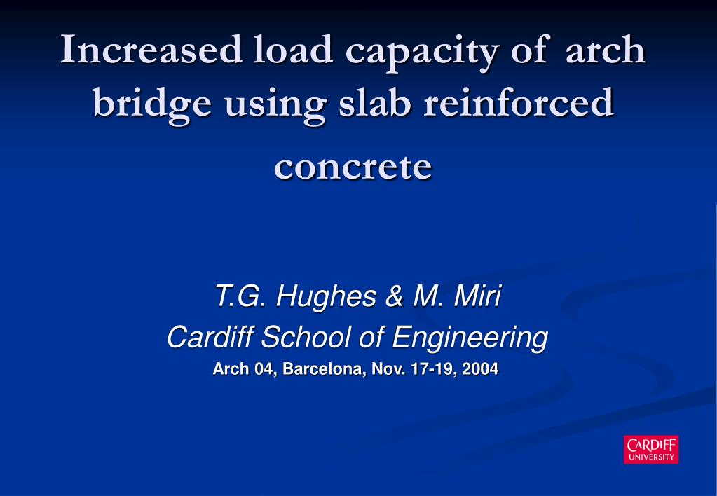 increased load capacity of arch bridge using slab reinforced concrete l.