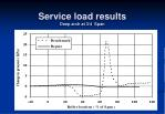 service load results deep arch at 3 4 span