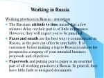 working in russia