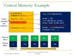 critical memory example