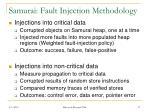 samurai fault injection methodology