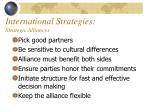 international strategies strategic alliances12