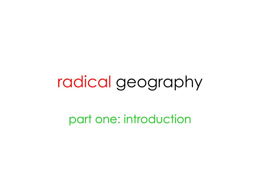 radical geography l.