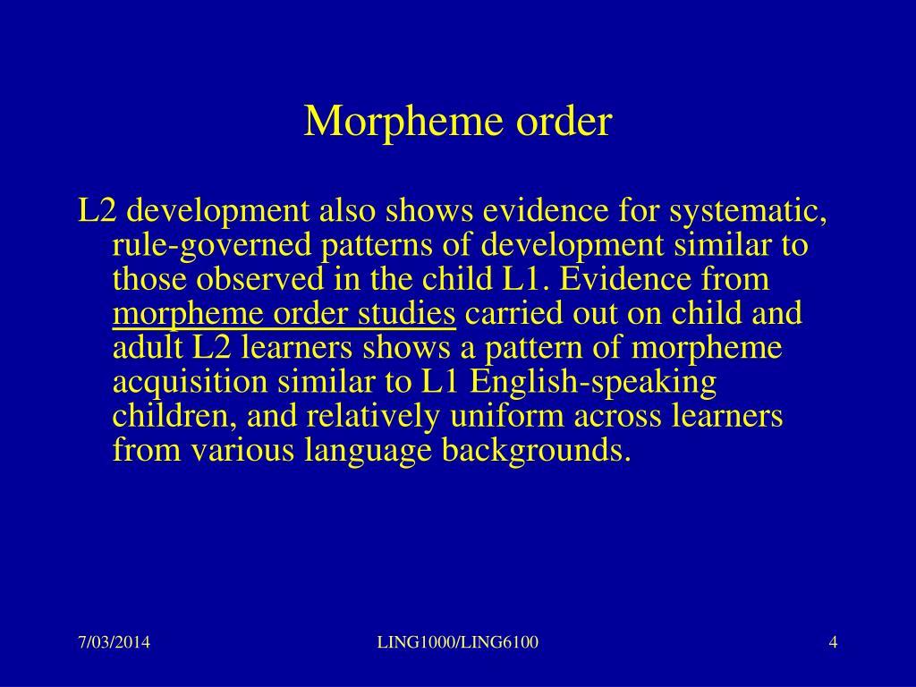 Morpheme order