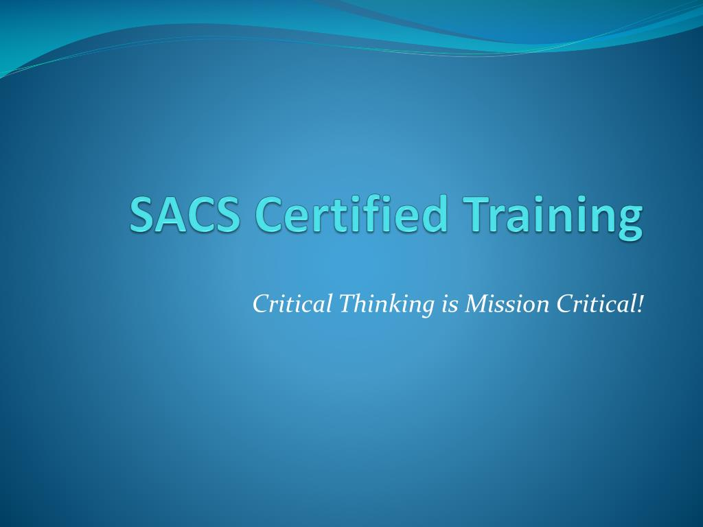 sacs certified training l.