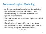 preview of logical modeling