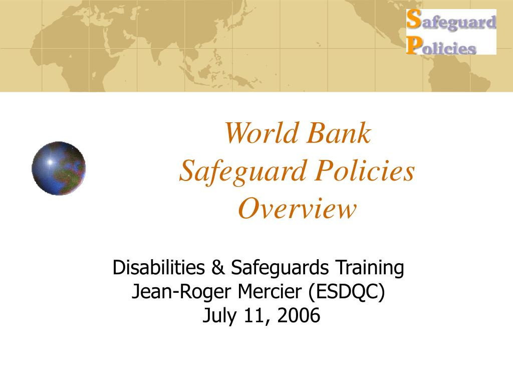 world bank safeguard policies overview l.