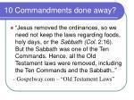 10 commandments done away