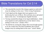 bible translations for col 2 14