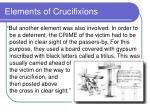 elements of crucifixions70