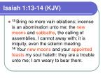 isaiah 1 13 14 kjv