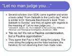 let no man judge you82
