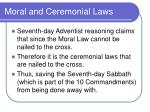 moral and ceremonial laws