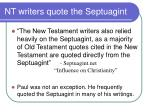 nt writers quote the septuagint