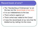 record book of sins