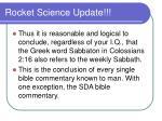 rocket science update