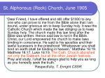 st alphonsus rock church june 1905