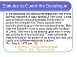 statutes to guard the decalogue