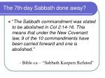 the 7th day sabbath done away