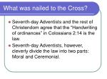what was nailed to the cross46