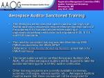 aerospace auditor sanctioned training