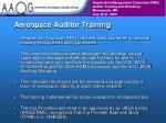 aerospace auditor training
