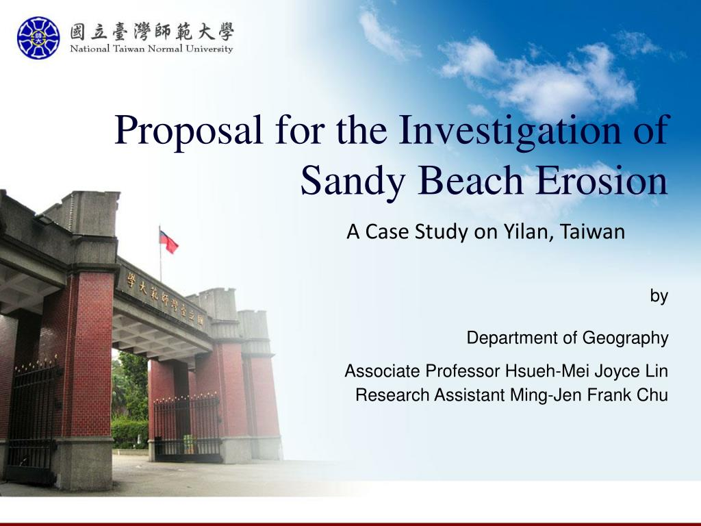 proposal for the investigation of sandy beach erosion l.
