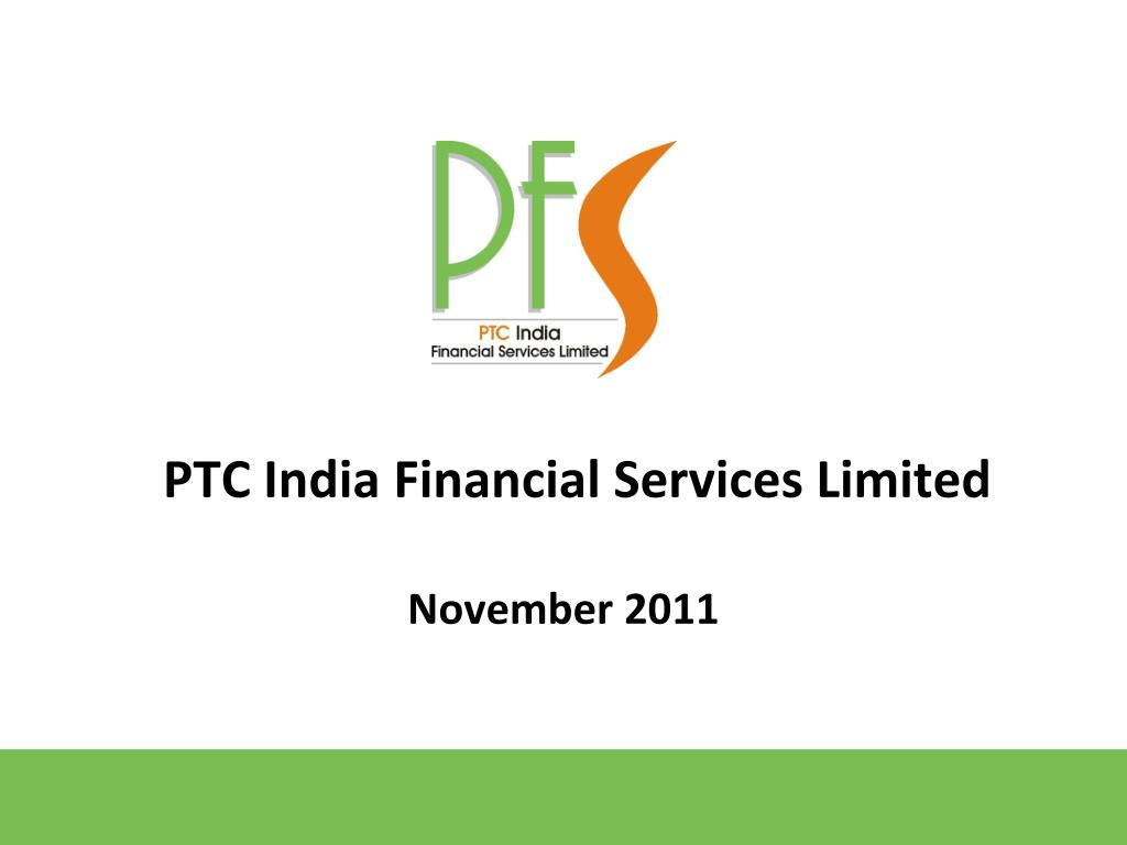 ptc india financial services limited l.